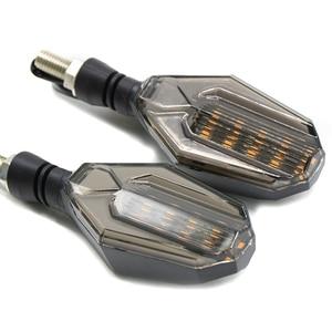 Image 2 - חדש אופנוע להפוך אותות הפעל waterproof LED כיוון מנורת מוטוקרוס אורות עבור ימאהה YZF R1 XJR1300 FZ1 FAZER FZR 600R