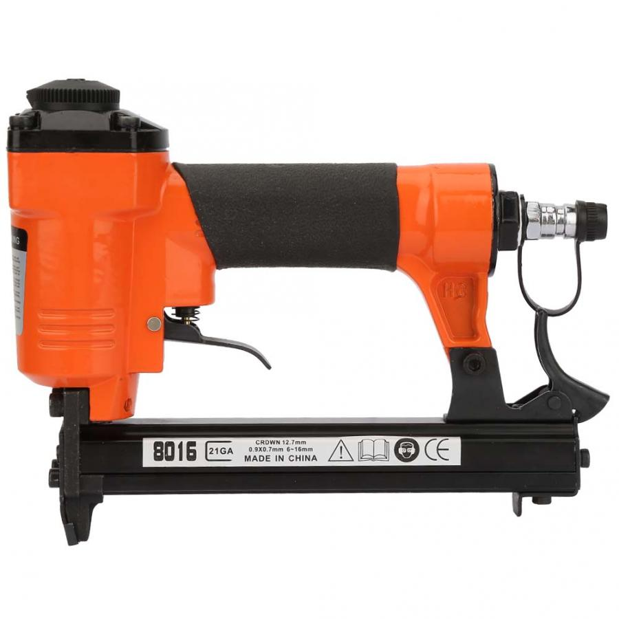 Stapler Pneumatic U Type Nail Gun Straight Nail Air Pneumatic Nailers Stapler Staple Gun 21GA 0.9*0.7mm Power Tool StaplerStapler Pneumatic U Type Nail Gun Straight Nail Air Pneumatic Nailers Stapler Staple Gun 21GA 0.9*0.7mm Power Tool Stapler