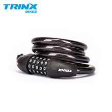 TRINX 5-digit Combination Password Bicycle Lock Cable Cycling MTB Road Anti-theft Security Steel Bike