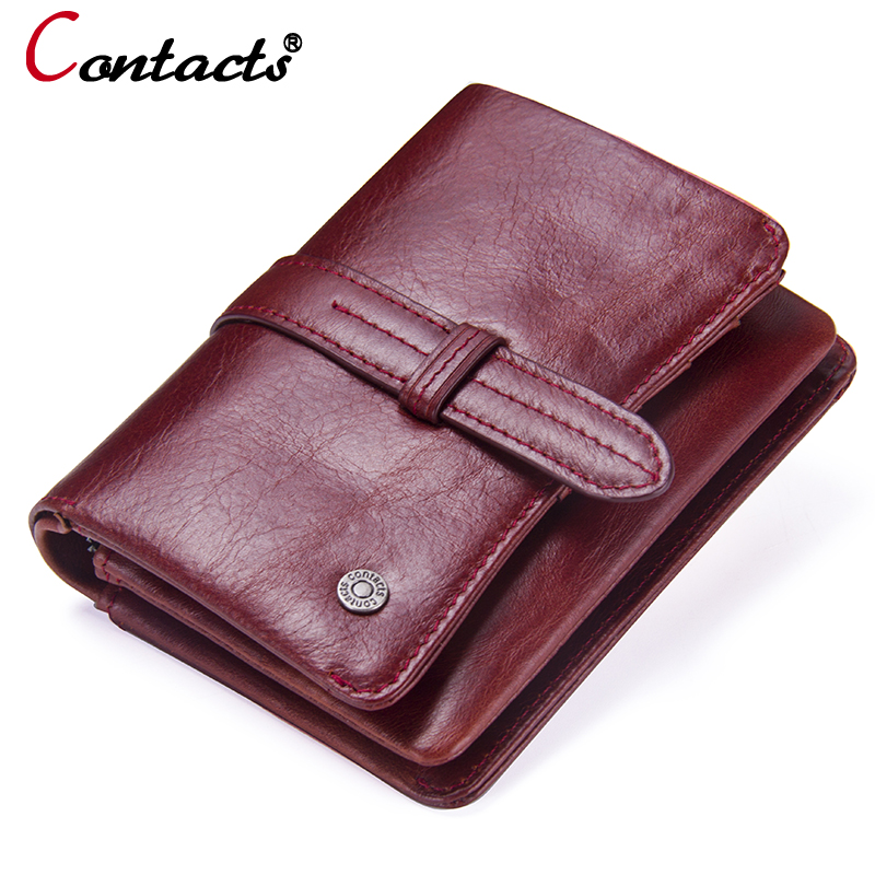 Contact's 2018 womens wallets and purses genuine leather zipper coin purse female small woman wallet card holder clutch female