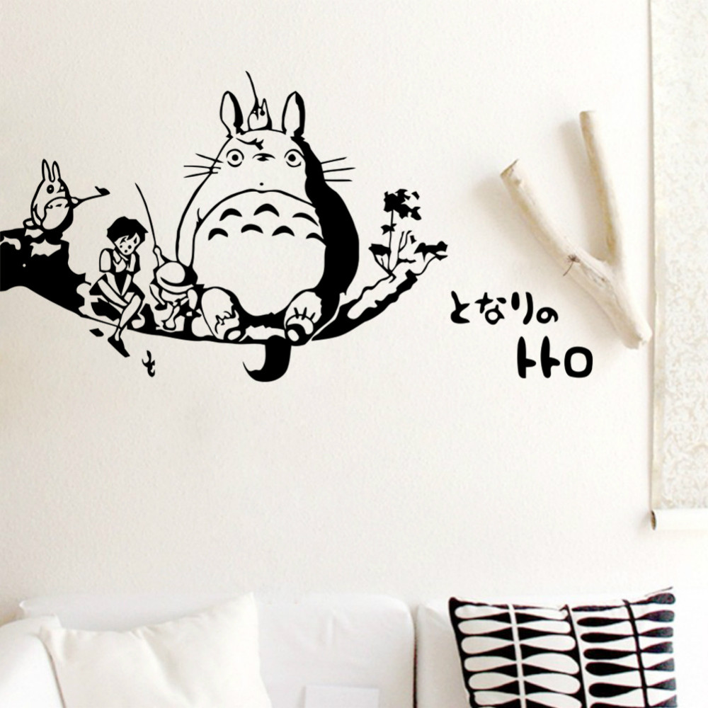 totoro wall decal sticker kids room wall decor art mural poster home