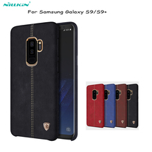 For Galaxy S9 case Nillkin Englon PU Leather back Cover Case Vintage lether PC case for samsung Galaxy S9 plus cover phone bags