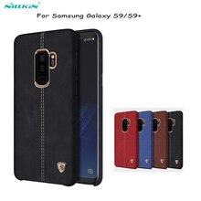 Чехол для Galaxy S9 Nillkin Englon, задняя крышка из искусственной кожи, Винтажный чехол накладка из поликарбоната для samsung Galaxy S9 plus, Обложка, сумки для телефона