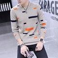 2016 inverno moda casual masculino magro camisa básica camisola masculina camisola o-pescoço pulôver