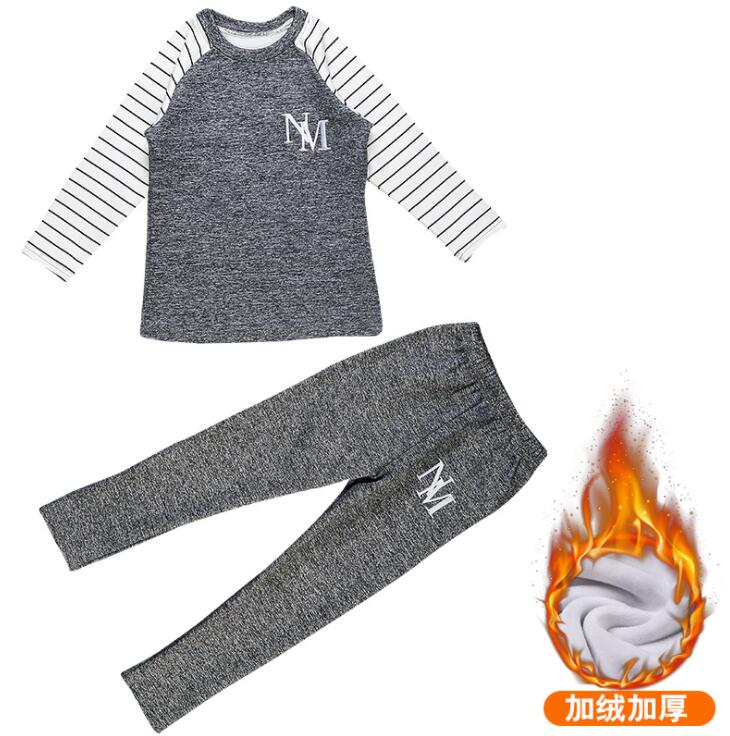 New Winter Kids Clothes Stripe Boys Home Wears 3 4 5 6 7 8 9 10 11 12 14 Years Boys Clothing Set Suit Boys Sweatshirts And Pants