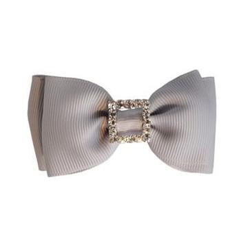 120pcs  Korean hair accessories diamond bow Gray