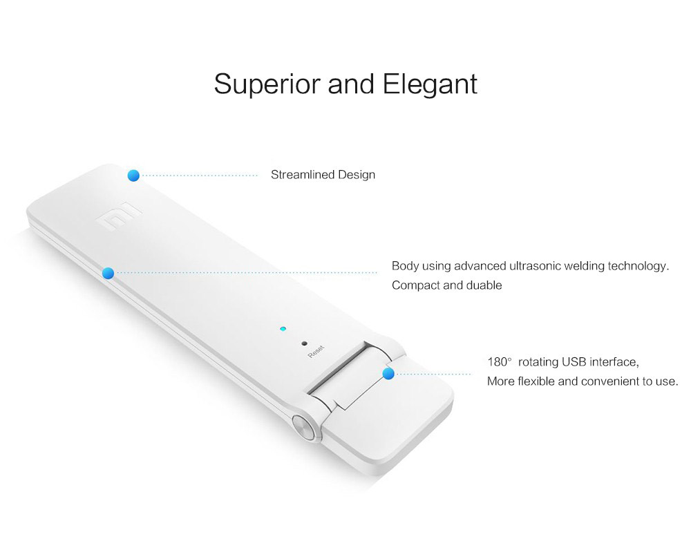 Xiaomi WIFI Repeater 2 Universal Repitidor Wi-Fi Extender 2 Amplificador 300Mbps Extende Signal Enhancement Wireless Routers (4)