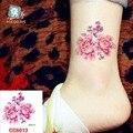Mini Body Art tatuajes temporales a prueba de agua para las mujeres la belleza de la flor diseño flash CC6013 etiqueta engomada del tatuaje del Envío Libre