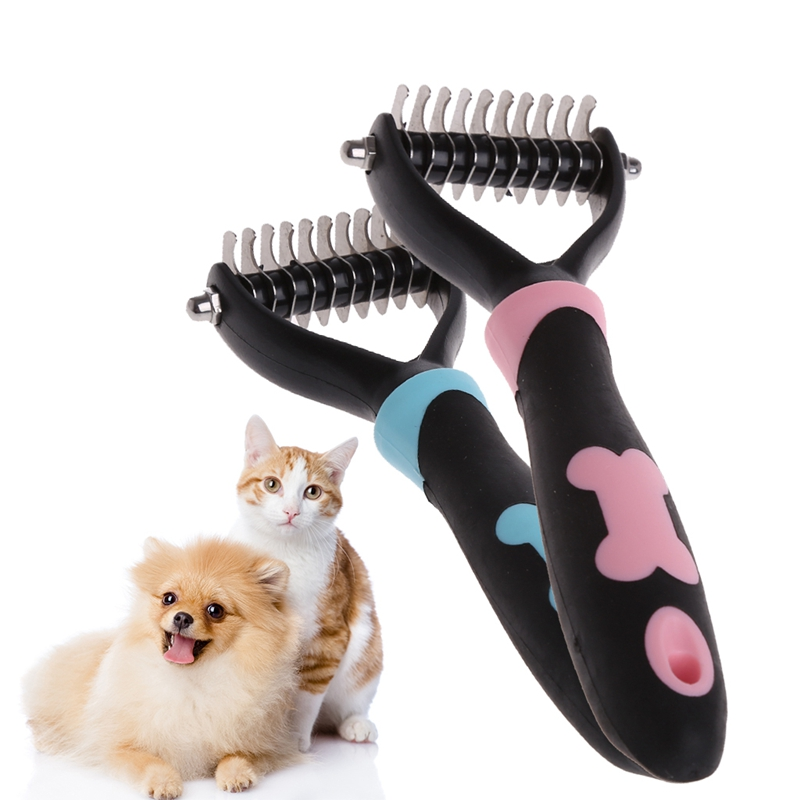 Dog Pet Brush Dematting Grooming Deshedding Tool Trimmer Comb Rake 10/13/18 Blades Warm's house Dropshipping #HCNSH#