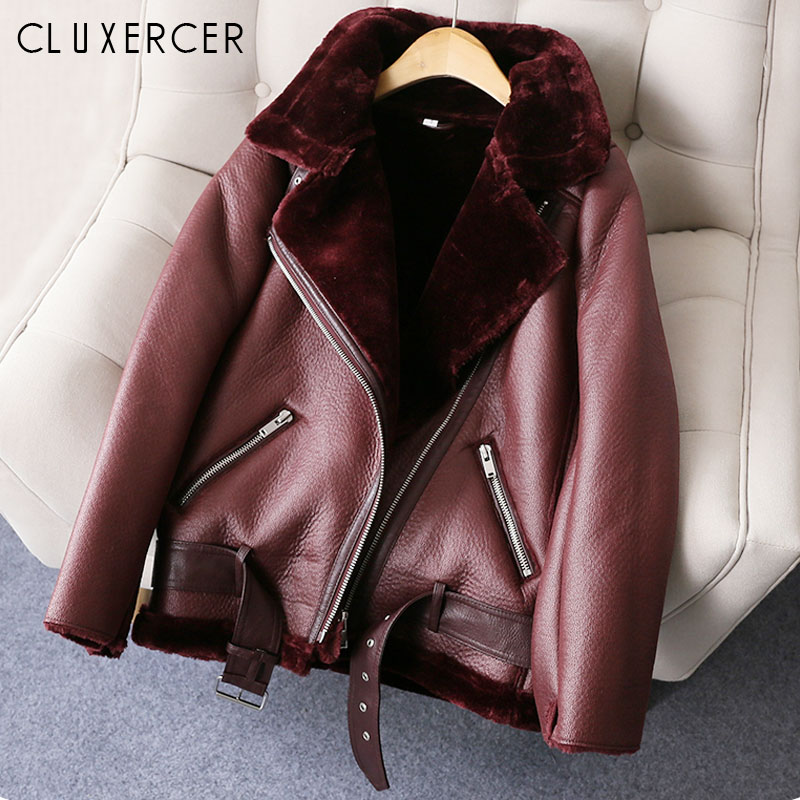 2018 New winter faux   leather   jacket woman befree fashion Warm Thicken motorcycle jacket woman chqueta mujer