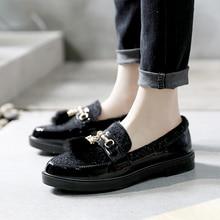Купить с кэшбэком 2019 New Spring Women's Shoes Retro Women Winter Mao Mao English Style Lefu platform Shoes Women Casual Yasilaiya