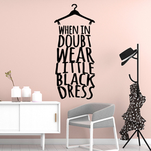 Fashionable Letter Dress Waterproof Wall Stickers Art Decor for Living Room Company School Office Decoration