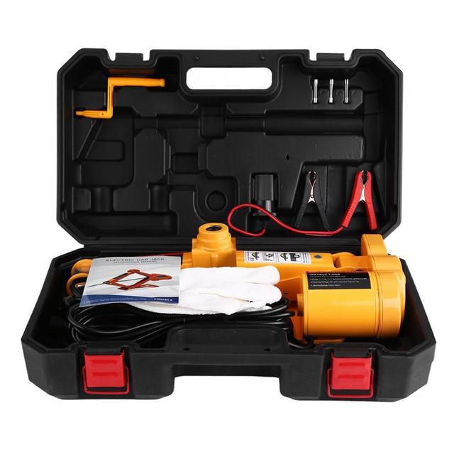 3Ton 12V DC Automotive Car Electric Jack Lifting SUV Van Garage and Emergency Equipment Auto Electric Jack Repair Tools Kit