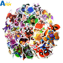 50 Pcs\lot Mixed Super Hero Superman Graffiti Sticker Waterproof FOR Suitcase Bike Car Luggage Carrier Stickers Toys for Kids(China)