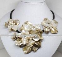 HOT 0015424 18 inches witte mop shell parel bloem handgemaakte hanger ketting Fashion Jewelr