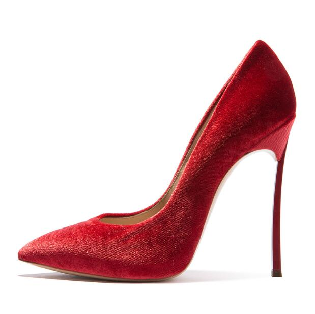 Sexy High Heels Platform Pumps Shoes Women Pointed Stiletto 12cm Red Carpet Shoes Metal Heels Velvet Shoes Wedding Women newest flock blade heels shoes 2018 pointed toe slip on women platform pumps sexy metal heels wedding party dress shoes