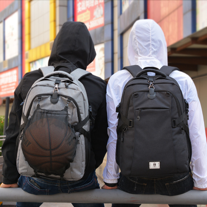 Hot style double shoulder bag student backpack Oxford cloth computer backpack, with USB ear function