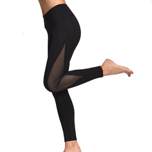 Slim Women Mesh Sport Yoga Leggings Running Gym Sports Tights Sexy Patchwork Pants Fitness Workout Pocket Trousers for Women