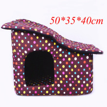 Pet Supply Small Dog Beds Puppy House For Cat Soft Sponge Dot Kennel with  Zip Washable