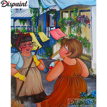 Dispaint Full Square/Round Drill 5D DIY Diamond Painting Cartoon woman 3D Embroidery Cross Stitch Home Decor A06072