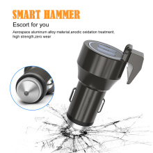 12/24V Car Cigarette Charger Dual USB LED Circle Universal Multifunctional Phone with Emergency Escape Hammer