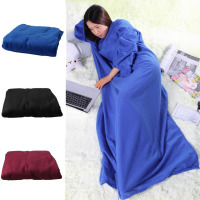 1pc Hot Newest Supper Home Winter Warm Fleece Snuggie Blanket Robe Cloak With Sleeves