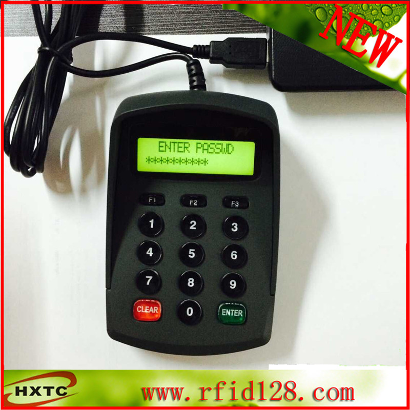 Customizable pos pinpad /LCD numeric keypad HX541DA for HOTEL usb pos numeric keypad card reader white