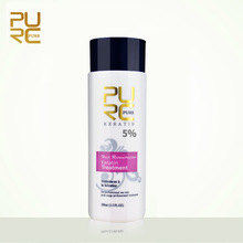 PURC 5% Formalin Brazilian Keratin Hair Treatment For Hair Straightening Treatments Repair Damaged Make Hair Smoothing 100ml