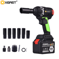 XEAST 128VF Cordless Electric Wrench Impact Driver Socket Wrench 16000H Lithium Battery Hand Drill Installation Power Tools