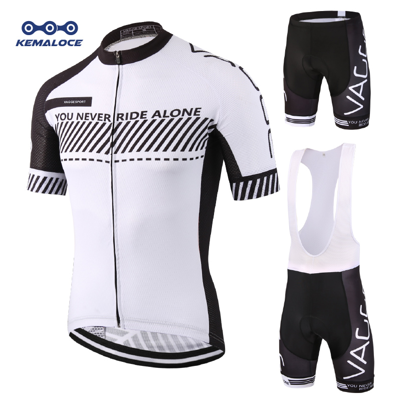 Blanco Sport Bike Team Racing Ciclismo Wear Summer Half Sleeves Conjunto de bicicleta Ropa de ciclismo Ropa Ciclismo Transpirable MTB Bike Wear