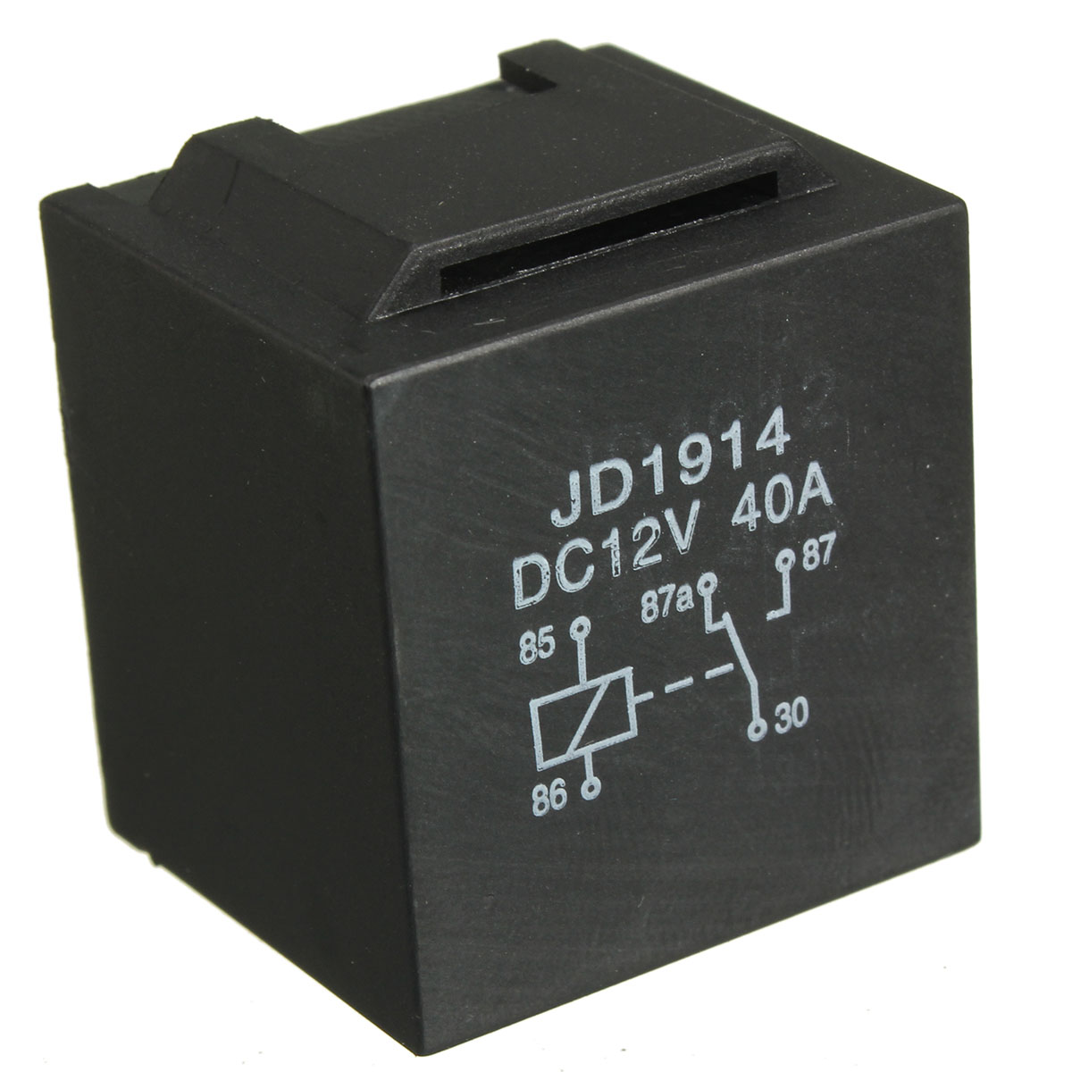 Waterproof Car Relay 12v 5pin 40a Long Life Black Red Copper - Automotive Relay Normally Open