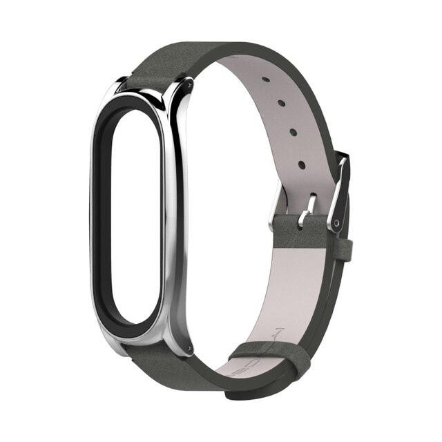 Strap for Xiaomi Mi Band 6 5 for Mi Band 4 Bracelet PU Leather Wrist Strap for Mi Band 3 Wristbands Pulseira Smart Accessories 3
