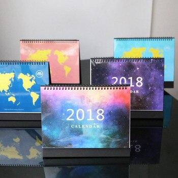 Coloffice 1 PC Sky Ziemi Codziennie Planner Notatnik Canlendar Czas 2018 Pulpitu Kalendarza Papieru Tabeli Pracy Harmonogram Porządku Obrad Planuj