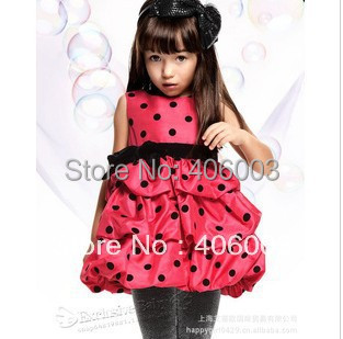 polka dots  princess ball gowns for girls dress with bowpolka dots  princess ball gowns for girls dress with bow