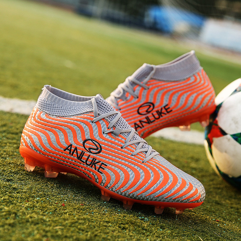 Men's Football Boots Sneakers Indoor Turf  Futsal 2018 Original Football Boots Ankle High Soccer Boots Cleats Sport Shoes School|Soccer Shoes| |  - title=