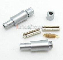 LN004010 2 sztuk niestandardowe męskie szpilki słuchawkowe dla Sennheiser HD800 hd820 hd800s hd820 d1000 kabel DIY złącza Adapter