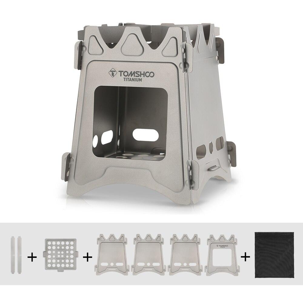 TOMSHOO Открытый Кипятильника Портативный легкий складной Титан дровах Камп malzemeleri Кемпинг посуда