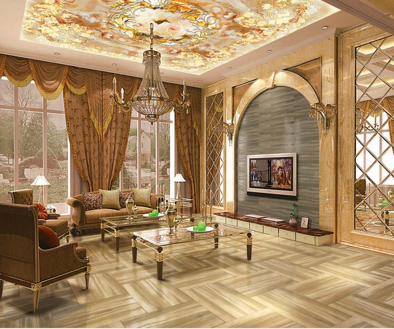 Custom modern ceiling wallpaper 3d ceiling wall papers - Description of a living room essay ...
