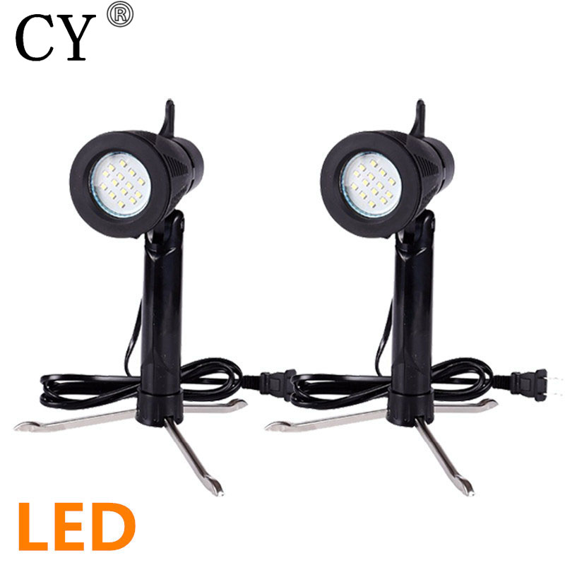 New 2pcs 6w 3200k/5500k LED Table Light Photography Studio Kit with stand for shooting table light tent