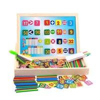 Chanycore Learning Educational Wooden Arithmetic Toys Box Digital Math Blocks Sticks Blackboard Whiteboard Kids Gifts 4016