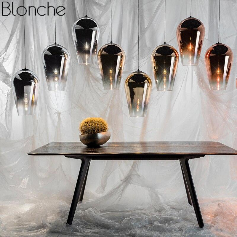 цена Modern Tom Dixon Fade Glass Pendant Lights Nordic Led Hanging Lamp for Living Room Industrial Home Loft Decor Fixture Luminaire