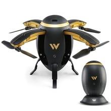 Wi-Fi FPV складной RC Квадрокоптер селфи Летающий Дрон яйцо-Дрон W5 2,4 ГГц 0.3MP камера 4 канала удержание высоты дроны рождественские подарки