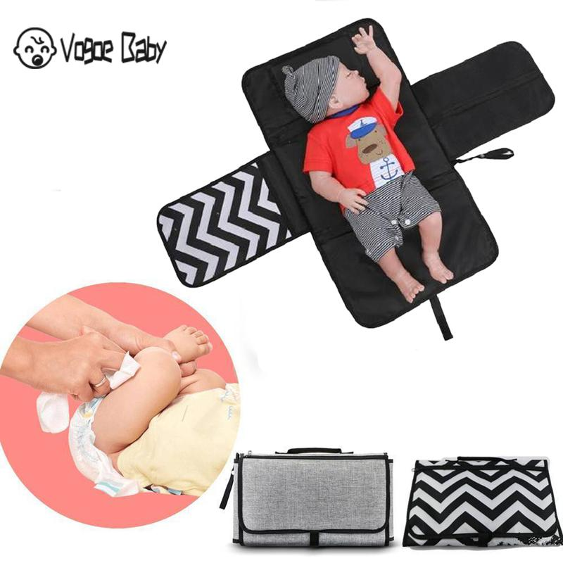 New 3 In 1 Waterproof Changing Pad Diaper Travel Multifunction Portable Baby Diaper Cover Mat Clean Hand Folding Diaper Bag 7479