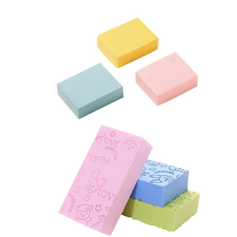 1PC Painless Soft Body Cleaning Bath Sponge Baby Adult Bath Sponge Cleaning Shower Scrub Bathroom Tools Colors Random