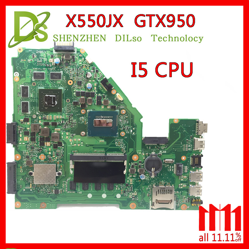 KEFU X550JX motherboard For ASUS X550JX X550JD ZX50J FX50J A550J laptop motherboard X550JK