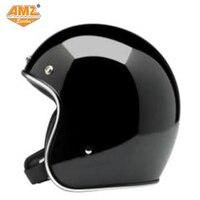 AMZ אופנוע ספורט רטרו להרחיב פנים קסדת capacete cascos para מוטוקרוס רכיבה קסדה