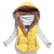 2016 Women Spring & Autumn Waistcoats Length Jacket Hooded Thick Cotton Coat Warm Velvet Sleeveless Vests Female Plus Size