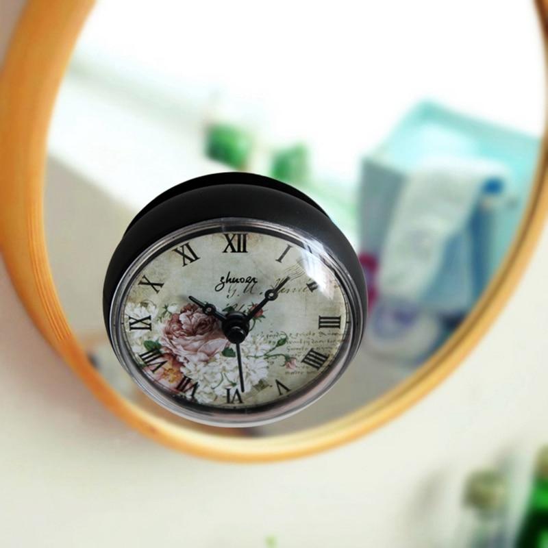 Bathroom Kitchen Waterproof Shower Wall Mini Clock Watch