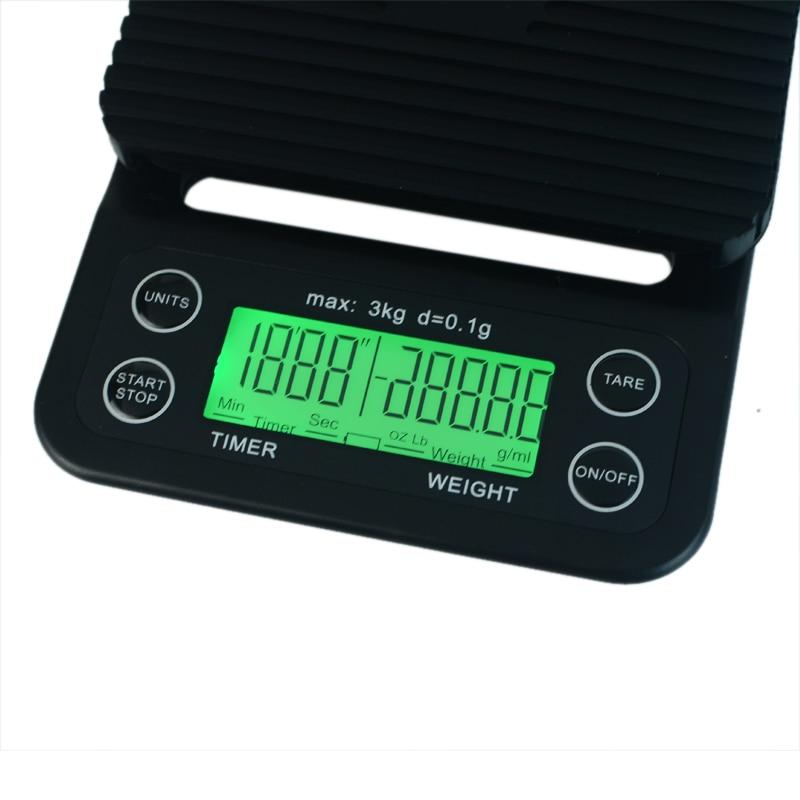 Escala eletrônica portátil com temporizador 3 kg0.1g