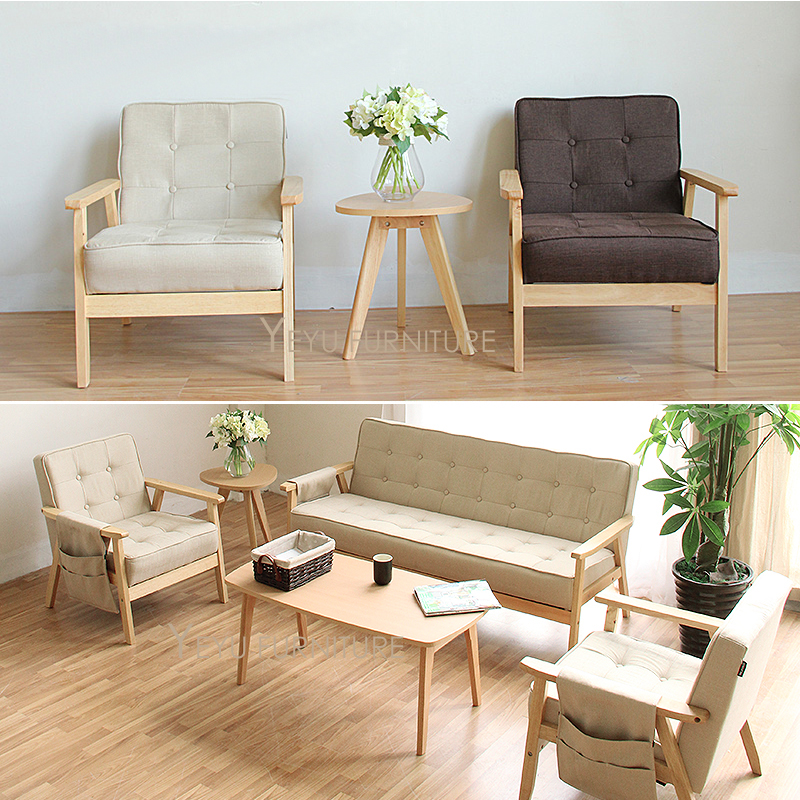modern furniture living room wood.  Furniture Minimalist Modern Design Solid Wooden Fabric Padded Living Room Sofa Wood  Sofa With Cushion Simple Small House Room Set In Chairs From  With Modern Furniture V
